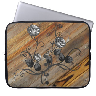 Wood And Roses Laptop Sleeve