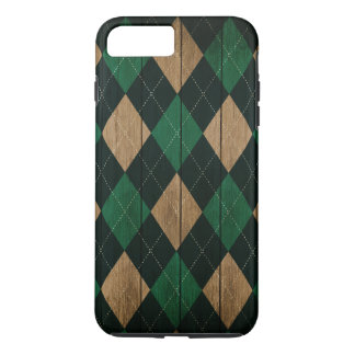 Wood Argyle Pattern CMGreen (Diamond Pattern) iPhone 8 Plus/7 Plus Case