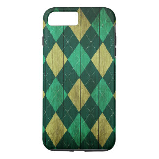 Wood Argyle Pattern Green (Diamond Pattern) iPhone 8 Plus/7 Plus Case
