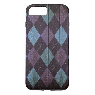 Wood Argyle Pattern Purple (Diamond Pattern) iPhone 8 Plus/7 Plus Case