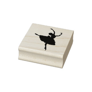Wood Art Stamps/Ballerina Rubber Stamp