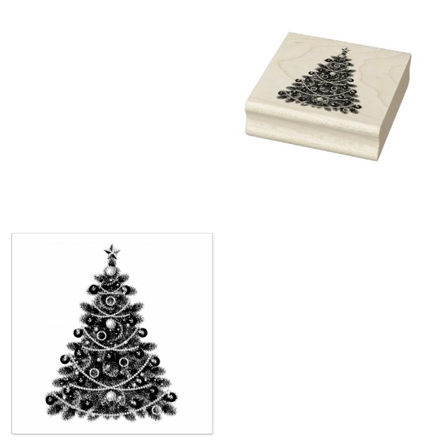 Christmas Tree Rubber Stamps