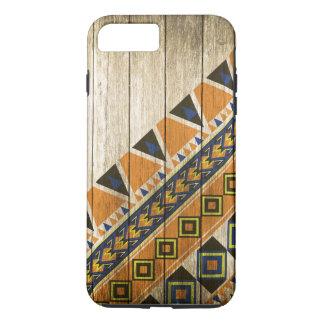 Wood Aztec Pattern Orange Case-Mate iPhone Case