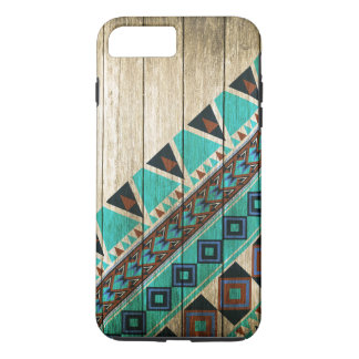Wood Aztec Pattern Turquoise Case-Mate iPhone Case