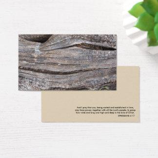 Wood background, Ephesians 4:17 Business Card