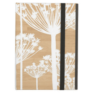 Wood background flowers girly floral pattern iPad air cover