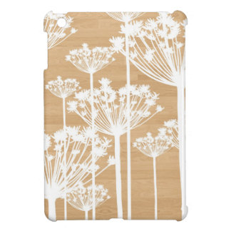 Wood background flowers girly floral pattern iPad mini cases