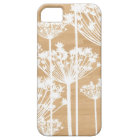 Wood background flowers girly floral pattern iPhone 5 cover