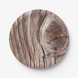 Wood background paper plate