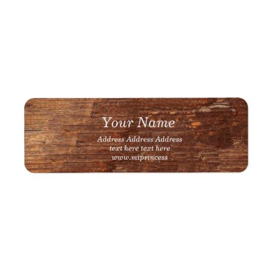 wood background, rustic Return Address Labels