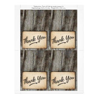 wood background , vintage Thank You card