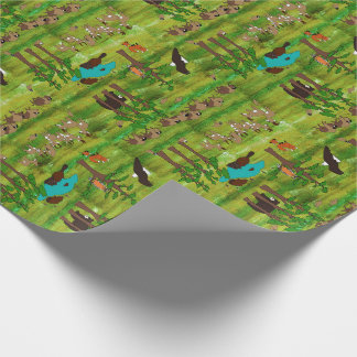 Wood Badge Critter Scenery Wrapping Paper