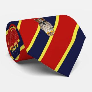 Wood Badge Owl Striped Dress Tie