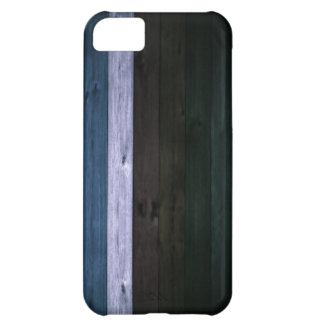 Wood Blue/White Stripe 5c Case For iPhone 5C
