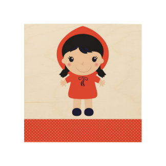 Wood board with Red riding hood Wood Wall Art