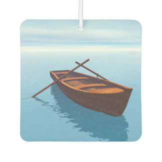 Wood boat - 3D render Air Freshener