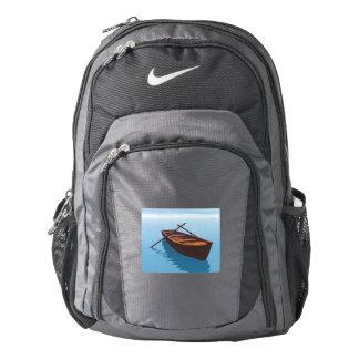 Wood boat - 3D render Backpack