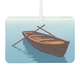 Wood boat - 3D render Car Air Freshener
