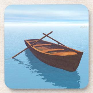 Wood boat - 3D render Coaster