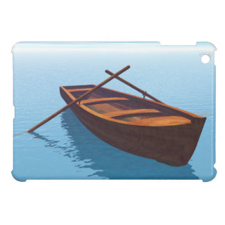 Wood boat - 3D render Cover For The iPad Mini