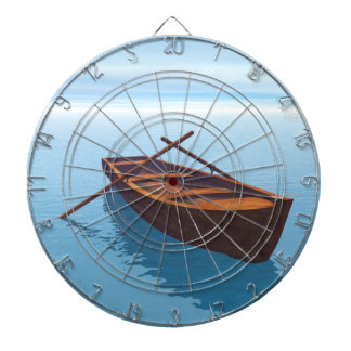 Wood boat - 3D render Dartboard