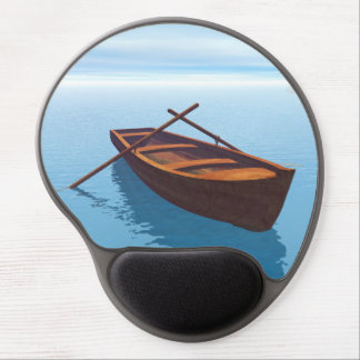 Wood boat - 3D render Gel Mouse Pad