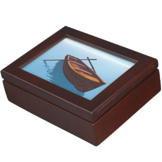 Wood boat - 3D render Keepsake Box