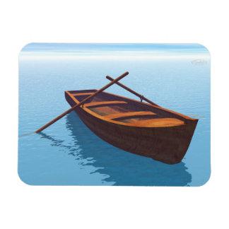 Wood boat - 3D render Magnet