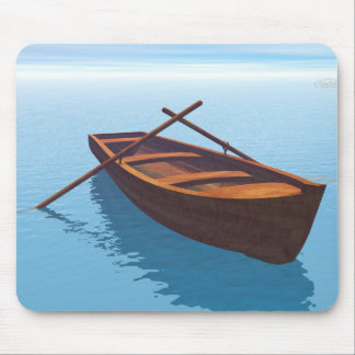 Wood boat - 3D render Mouse Pad