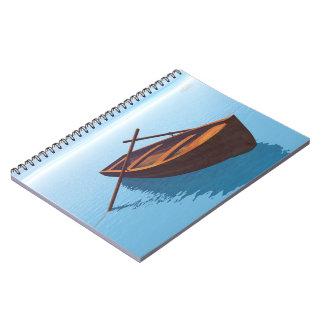 Wood boat - 3D render Notebooks