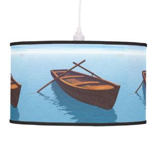 Wood boat - 3D render Pendant Lamp
