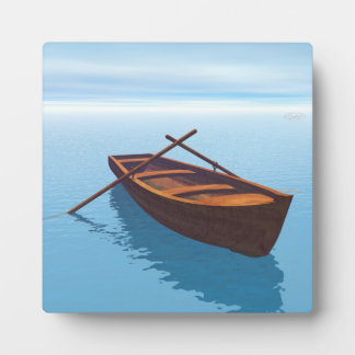 Wood boat - 3D render Plaque