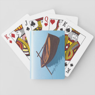 Wood boat - 3D render Playing Cards