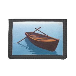 Wood boat - 3D render Tri-fold Wallet