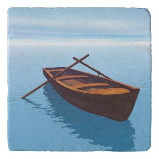 Wood boat - 3D render Trivet