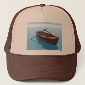 Wood boat - 3D render Trucker Hat