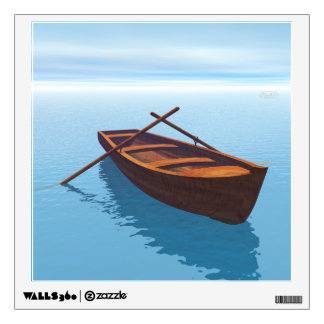 Wood boat - 3D render Wall Sticker