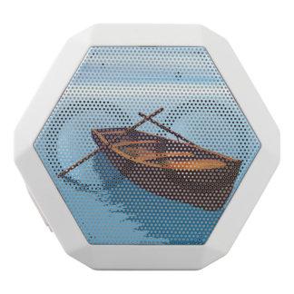 Wood boat - 3D render White Bluetooth Speaker