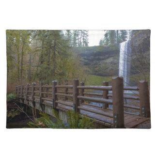 Wood Bridge at Silver Falls State Park Placemat