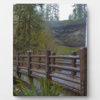 Wood Bridge at Silver Falls State Park Plaque