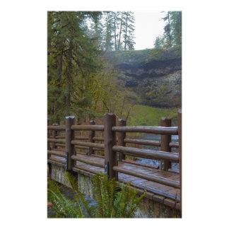 Wood Bridge at Silver Falls State Park Stationery