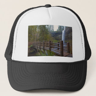 Wood Bridge at Silver Falls State Park Trucker Hat
