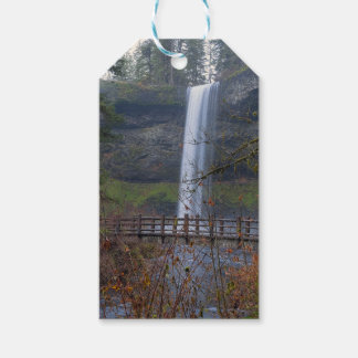 Wood Bridge on Hiking Trail at Silver Falls OR Gift Tags