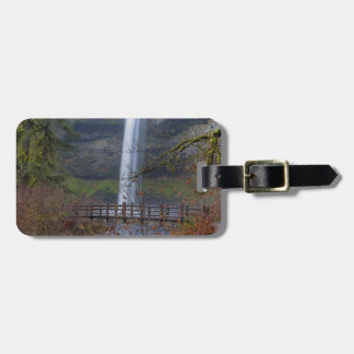 Wood Bridge on Hiking Trail at Silver Falls OR Luggage Tag