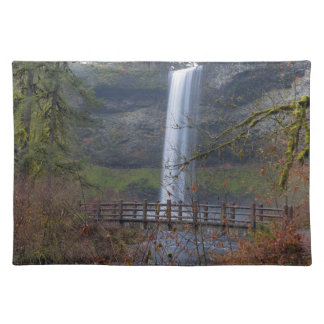 Wood Bridge on Hiking Trail at Silver Falls OR Placemat
