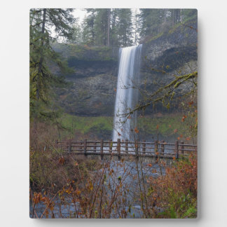 Wood Bridge on Hiking Trail at Silver Falls OR Plaque