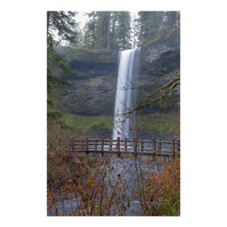 Wood Bridge on Hiking Trail at Silver Falls OR Stationery