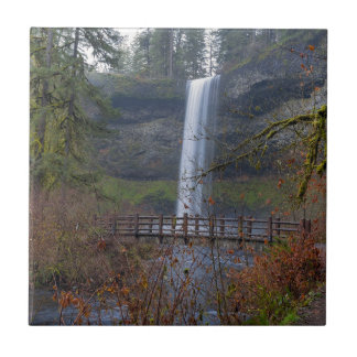 Wood Bridge on Hiking Trail at Silver Falls OR Tile