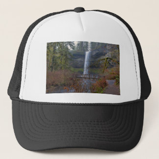 Wood Bridge on Hiking Trail at Silver Falls OR Trucker Hat