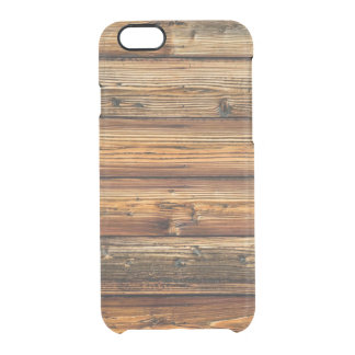 Wood Cabin iPhone 6/6S Clear Case